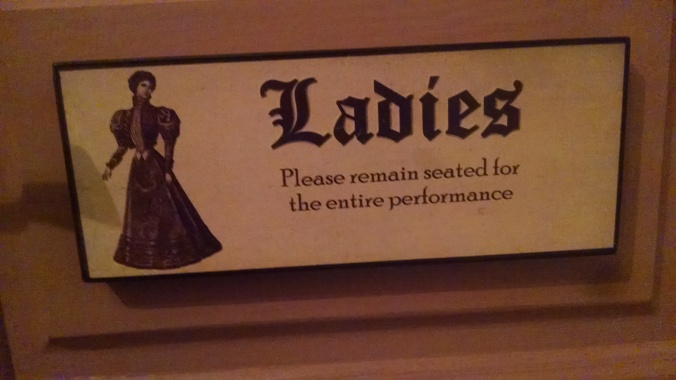 in the bathroom, but outside you can pee standing up!
