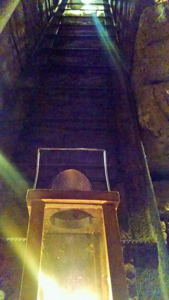 View of the Ladder into the Cēsis Castle Dungeon