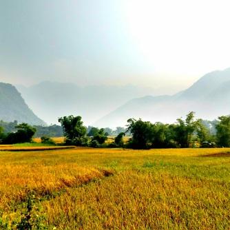 View of Lac Village, Mai Chau, Vietnam