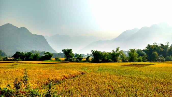 View of Lac Village, Mai Chau, Vietnam