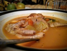 Pumpkin Soup with Chicken Neck & Foot