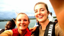 My Peace Corps friend, Lindy, and I, enjoying a boat ride in Port Morant's harbor. I love sharing stories with her :)